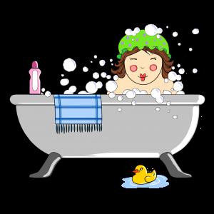 poupée dans le bain Png